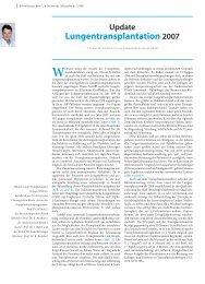 Update Lungentransplantation 2007 - Einblicke