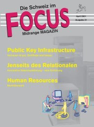 Public Key Infrastructure Jenseits des Relationalen Human Resources