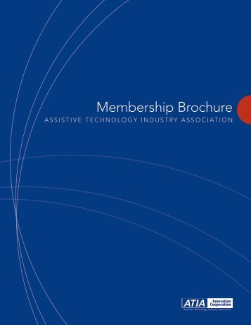 Membership Brochure - Assistive Technology Industry Association