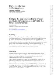 Bridging the gap between brand strategy and customer experience ...