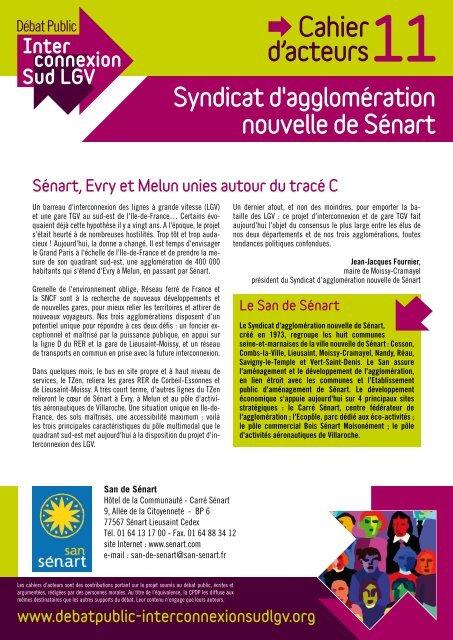 Cahier d'acteurs du San (pdf) - EPA Sénart