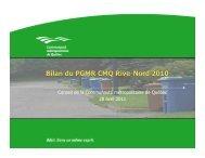 Bilan PGMR 2010 [Lecture seule] - Plan de gestion des matières ...