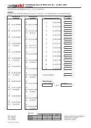 Fortbildungs Kurs IR-Mitte vom 10. / 11.Nov. 2001 in Reiden