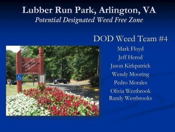 Lubber Run Park, Arlington, VA - Invasive Plant Control, Inc.