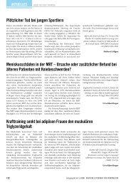 Aktuelles aus der Literatur - Deutsche Zeitschrift für Sportmedizin