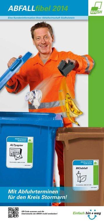 ABFUHRtermine 2014 - Abfallwirtschaft Südholstein