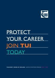 PROTECT YOUR CAREER JOIN TUI TODAY