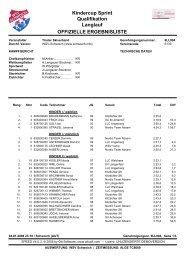 Kindercup Sprint Qualifikation Langlauf ... - WSV Schwoich