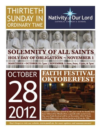 October 28, 2012 - Nativity of Our Lord