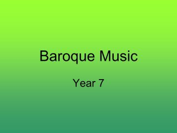 you need to know about Baroque music