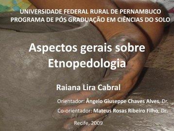 Aspectos gerais sobre Etnopedologia