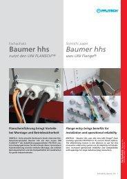 Baumer hhs nutzt den UNI FLANSCH - Wagner GmbH