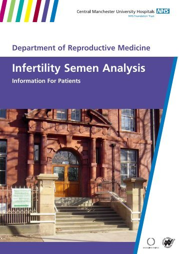 Infertility semen analysis information for patients