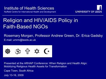Religion and HIV/AIDS Policy in Faith-Based NGOs