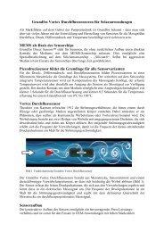 Grundfos Vortex Durchflusssensoren für Solaranwendungen MEMS ...