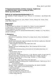 Referat af repræsentantskabsmøde nr. 9 Dagsorden: - Fadl