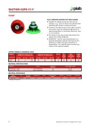 Piab suction cups FC50P data sheet