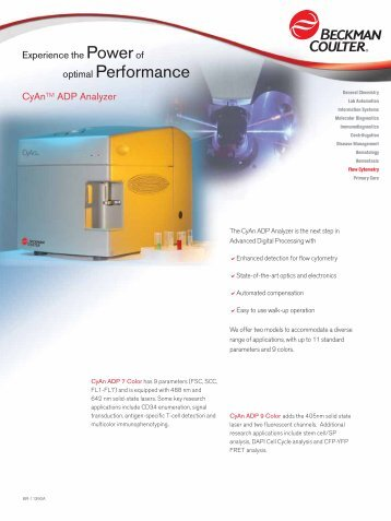 optimal Performance - Beckman Coulter