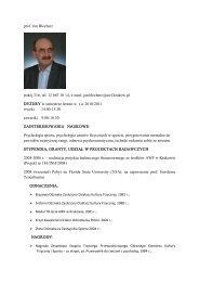 prof. Jan Blecharz pokój 216, tel. 12 683 10 14, email: jan.blecharz ...