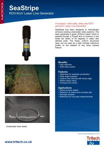 Tritech SeaStripe - Deep Sea Laser Projector - Marine Solutions