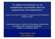 Compétences extra-scolaires - Norberto Bottani