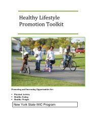 Healthy Lifestyle Promotion Toolkit - National Agricultural Library