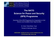 The NATO Science for Peace and Security (SPS) Programme - ELSA