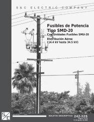 fusibles de potencia smd20 s&c