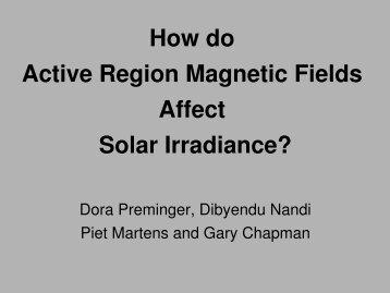 Dora Preminger - Solar Physics at MSU