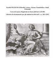 Corso di Laurea Magistrale in Storia dell'arte (LM - Dipartimento di ...