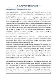 3. ELTERNINFOBRIEF 2010/11 - Gymnasium Engen