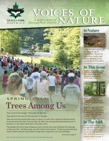 Voices of Nature Spring 2013 - Geauga Park District