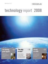 technologyreport 2008 I'm feeling good again!