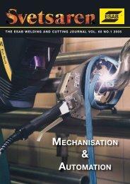 MECHANISATION AUTOMATION - Esab