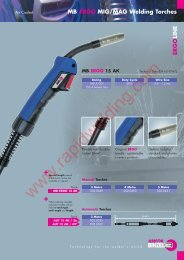 MB ERGO MIG/MAG Welding Torches - Rapid Welding and ...
