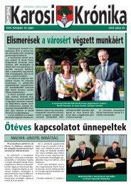 2013. július 25-i szám - Zalakaros