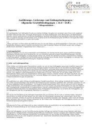 Ausführungs-, Lieferungs- und Zahlungsbedingungen / Allgemeine ...
