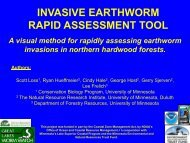 invasive earthworm rapid assessment tool - Sustainable Forests ...