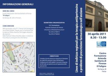 Linee di indirizzo regionali per la terapia ... - Fimmgfirenze.org