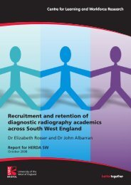 Recruitment and retention of diagnostic radiography academics ...