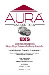 EXS Operating/Maintenance Manual - AURA Gas Controls