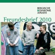 Freundesbrief 2010 - Bergische Diakonie Aprath