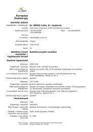Europass Önéletrajz - Nyugat-magyarországi Egyetem