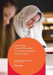 Empowering Teacher Effectiveness–Two Schools' Stories
