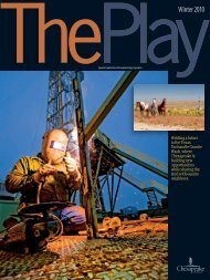 The Play, Winter 2010 Issue - Chesapeake Energy