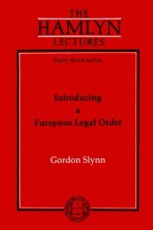 Introducing a European Legal Order - College of Social Sciences ...