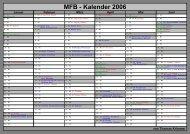 MFB - Kalender 2006