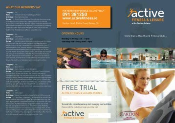 Free Trial - Active Fitness and Leisure