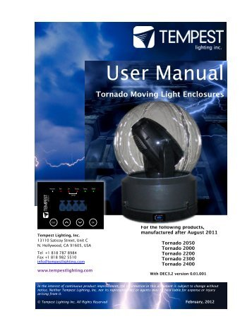 Tornado Manual pdf
