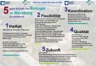 How to climb the tree of life - Biostudium.uni-wuerzburg.de